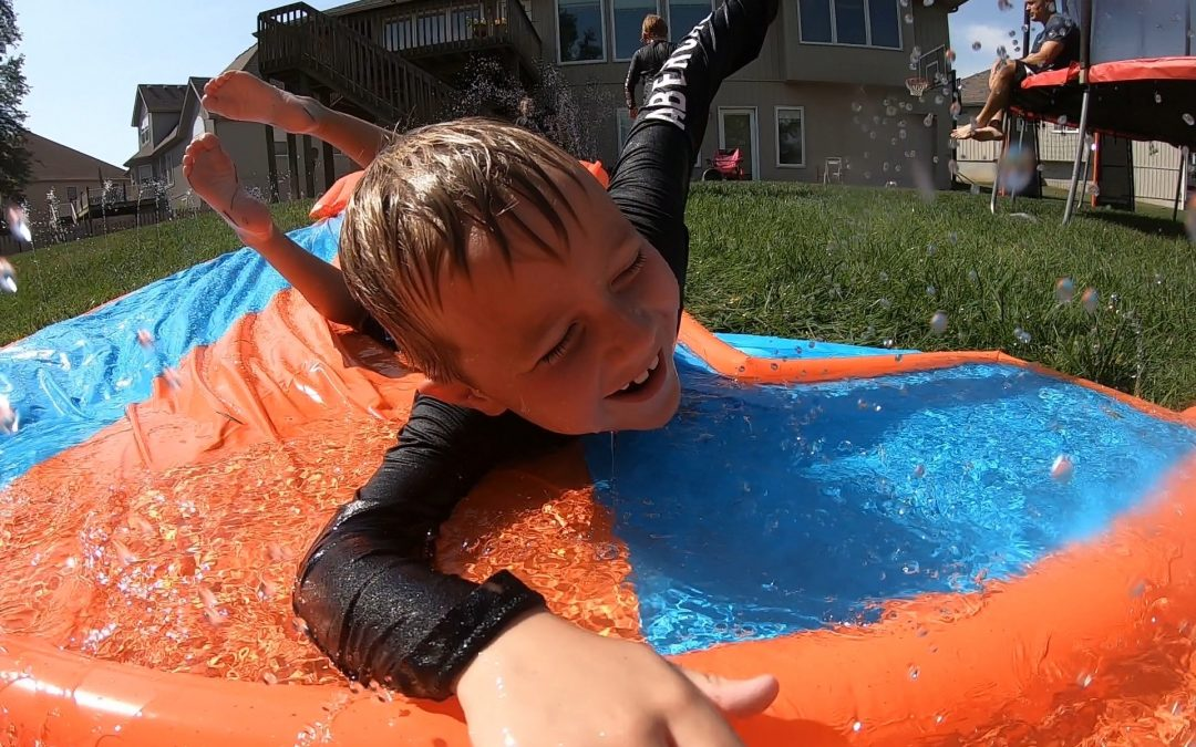 H20GO! Bestway Triple Water Slide and Tryazon Party